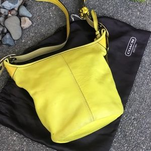 Coach Yellow Leather Bucket Bleeker Hobo Bag